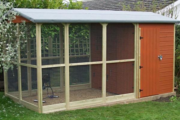 Просторное жилище для птиц